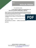 NP. 027-14 Municipalidad de Lima Mejora El Asfalto de La Avenida Grau, A La Altura de Los Puentes Andahuaylas y Abancay