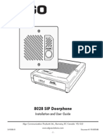 8028 SIP Doorphone Installation and User Guide