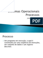 Processos Threads Escalonador