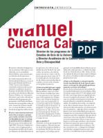 EntrevistaManuel Cuenca Cabeza