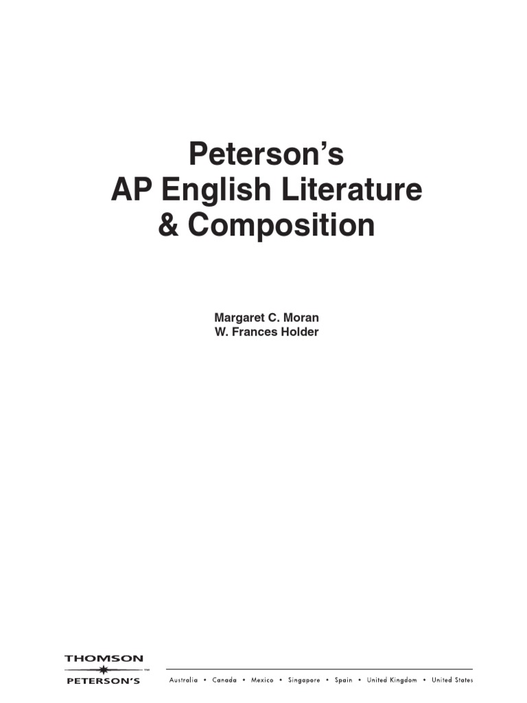 peterson s ap english multiple choice poetry