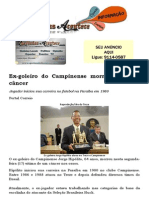 Ex-goleiro do Campinense morre vítima de câncer