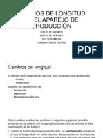 CAMBIOS DE LONGITUD EN EL APAREJO DE PRODUCCIÓN