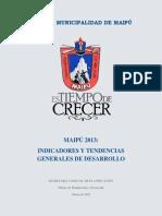 Maipú_Indicadores comunales y tendencias_2013