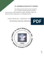 Formulario de Membresia Requisitos y Deberes