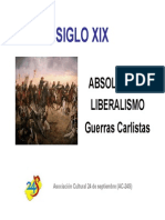 SIGLO XIX. Absolutismo y liberalismo. Guerras Carlistas.pdf