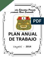 PLAN ANUAL DE TRABAJO DE LA INSTITUCIÓN EDUCATIVA PRIVADA