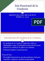 El Analisis Funcional de La Conducta
