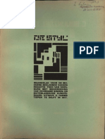 De Stijl Vol 1 No 3 Erroneously Designated as No 4 Delft January 1918