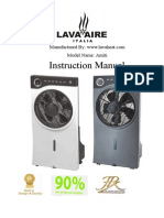 Lava Aire Italia - Amit Misty Misting Fan - Owners Manual