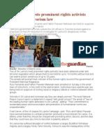 Sri Lanka Arrests Prominent Rights Activists Under Anti-terrorism Law