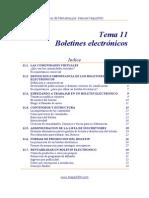 11 - Boletines electrónicos