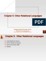 5. Other Relational Languages