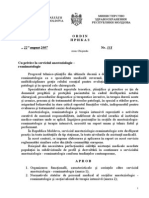 ORDIN 331 Cu Privire La Serviciu Anesteziologie-Reanimatologie
