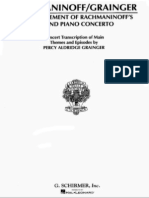IMSLP191180-PMLP01953-Grainger - Concert Transcription - Rachmaninoff - 3th Movement of Second Piano Concerto 15p