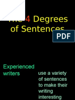 3 Degrees of Sentences