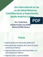 Adecuacion Intercultural en Los Servicios de Salud Materna