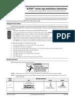 Alpha Series Sign Installation Instructions (Pn 97000043)[1]