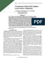 Assessment of Transformer Mineral Oil