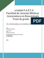 kinesiologia oncopediatria