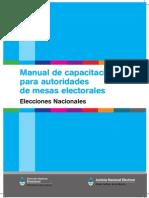 Elecciones Nacionales Manual Resumido Autoridades de Mesa