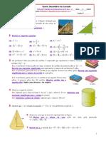Equações do Segundo grau e Teorema de Pitágoras Problemas