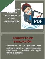 EVALUACIÓN PARA EL DESARROLLO O DEL DESEMPEÑO
