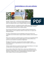 Gobernanza territorial indígena es clave para enfrentar cambio climático