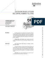 Articulo Teoria Del Capital Humano