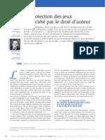 Protection Des Jds Par Le Droit D-Auteur