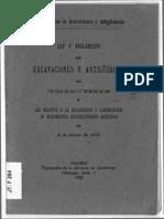 Ley Excavaciones 1911 Con Reglamento