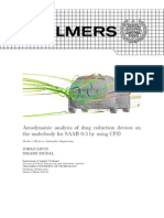 Aerodynamic Analysis of Drag Reduction Devices on the Underbody for SAAB