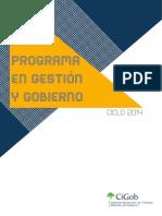 Programa en Gestíon y Gobierno. 2014.