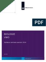 Syllabus Biologie