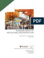 Nicollet Mall Economic Impact Study