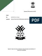 Carta Patrocinio Deportivo Yutaje