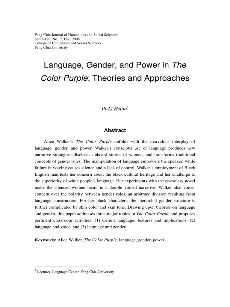 the colour purple essay essay Essays the color purple the color purple essays professional essays on the color purple the color purple for many readers the turning point of alice.