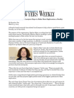 Massachusetts Lawyers Weekly 3.13.14 Spaced Out-Local Lawyers Hope to Make Mars Exploration a Reality
