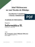 MANUAL DE INFORMÁTICA II VILLAZAN OLIVAREZ