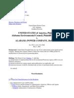 U.S. EPA, et al. v. Alabama Power Company