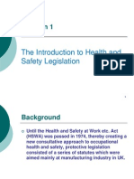 Introduction of occupational health and safety