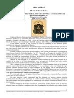 """Discurso de Orden - Aniversario de la Logia Capitular """"José María Corbacho N°21"""" Camp.·.de Arequipa"""