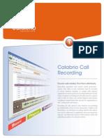 Calabrio Call Recording 9.2 20130930 PDF
