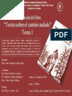 Presentación de libro- Textos sobre el camino andado