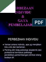 PERBEZAAN INDIVIDU & GAYA PEMBELAJARAN.ppt