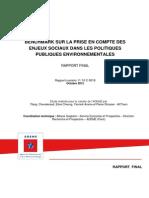 Enjeux Sociaux Des Politiques Environnementales Rapport