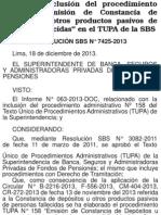 Resolución SBS N°7425-2013
