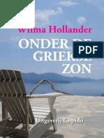 Hollander, Wilma - Onder de Griekse Zon