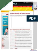 Plataformas Para Crear Una Web Gratis