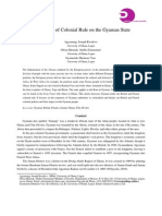 The Impact of Colonial Rule on the Gyaman State